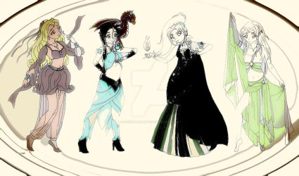 Dnd Group Lineart By Licieoic-dcgy7hz by rocheleheart10