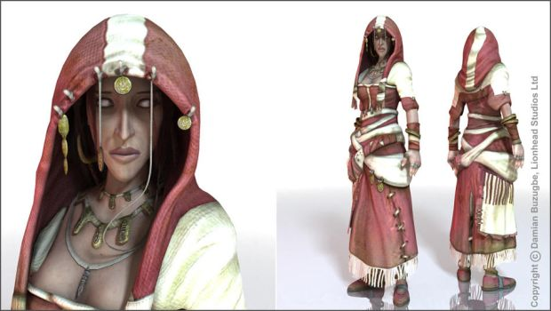 Fable 2 in game Theresa by OmenD4