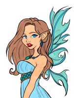 Fantasy Elf Colored by Maiko-Girl