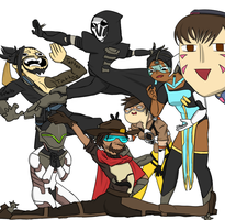 Draw The Squad Meme [Overwatch] by Lewildgeek