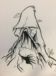 Inktober Day 2: Swamp Thing by haroldcjennettIII