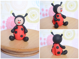 Polymer Clay Ladybug Cake Topper / Sculpture by TheLinnypig