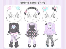 CLOSED || Pastel Goth Outfit Adopts by CuteWish