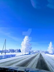 Winter road by coolheart