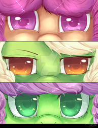 Speedpaint Eyes :Auntie Applesauce ,Granny Smith, by TomoCreations