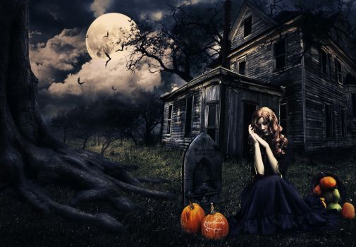 Grave Of The Pumpkin Lady by IndigoRavenlily