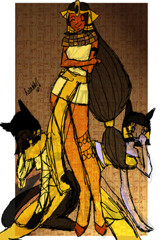 The Egyptian Queen by AnimatorV2