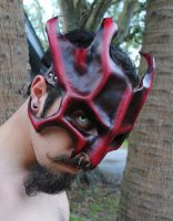 Ruby Great Dragon Leather Mask Lvl.2 by Epic-Leather