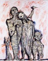 Family of Mummies by CliveBarker