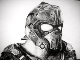 Gears of War Carmine tribute by FRENCHSkorm