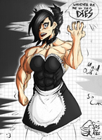 Akki As Maid - [SOS for ABS] by WickedBust
