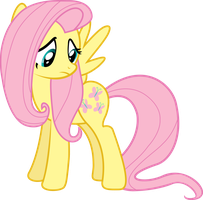 Fluttershy Looking At Her Cutie-mark by xHalesx