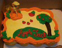 Applejack cake MLP by Foxbeast