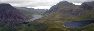 Cwm Idwal wide shot by Gaelic-nautilus
