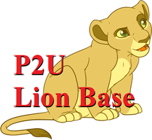 Lion King Cub Sitting Base: 130p by oCrystal