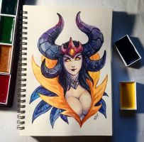 Instaart - Dark Queen Alexstrasza by Candra