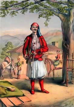 The Albanian Warrior In 1786 by eduartinehistorise