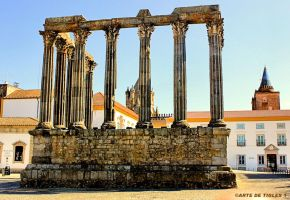 Temple of Diana in Evora Portugal by Tigles1Artistry