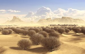 Tumbleweed Desert by xmas-kitty