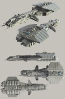 Tau'ri ship the USAF Ares by Mallacore