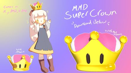 .:MMD DL:. Super Mario's SUPER CROWN by LilMissLillie