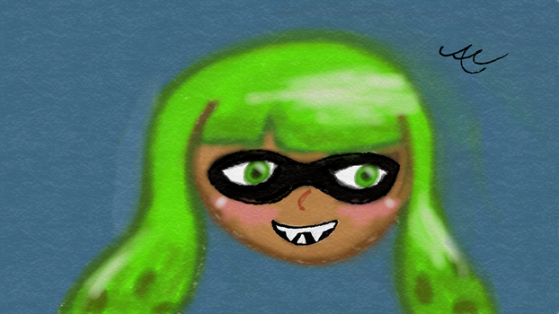 Lime Green inkling by Prospit-Lordling