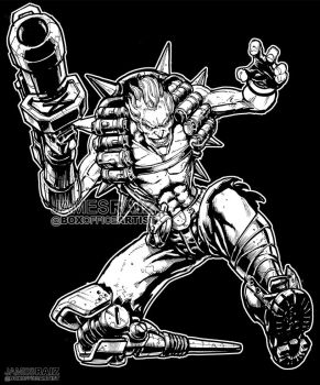 JUNKRAT from OVERWATCH by boxofficeartist
