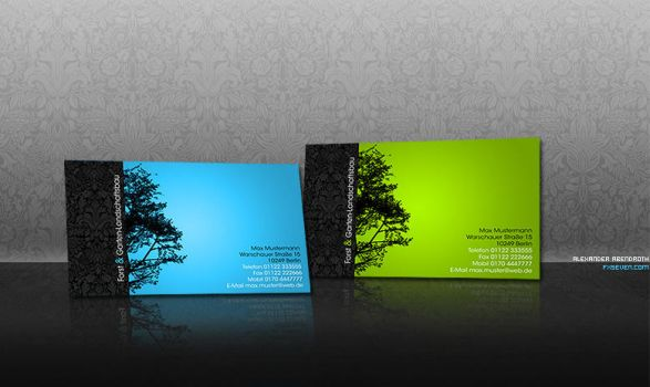 Business Card Wood by fxseven