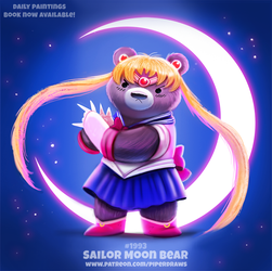 Daily Paint 1993# Sailor Moon Bear by Cryptid-Creations