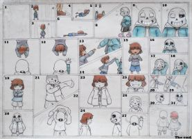 Undertale - Sans and Frisk (Short Comic) by Andy-chanWantToDraw