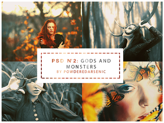 PSD 2 Gods And Monsters by PowderedArsenic
