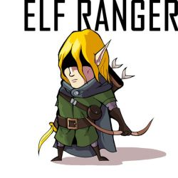 Mini Elf Ranger by adamclark
