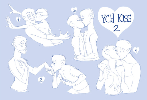 Set Price YCH KISS 2 OPEN! (Paypal and Points) by Taikoubou-Metal