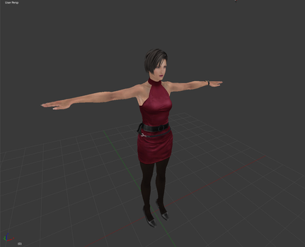 Ada Wong Classic Outfit WIP by Antionio3D