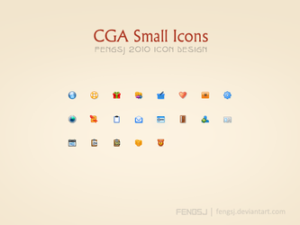 CGA Small Icons by fengsj