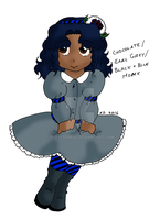 Tea Girl: Chocolate/Earl Grey/Black and Blue Monk by RubyCosmos