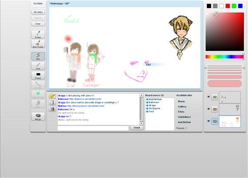 iScribble with tablet by Imichi