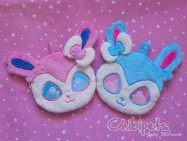 Zipper Pouch Sylveon and Shiny Sylveon by Chibi-pets