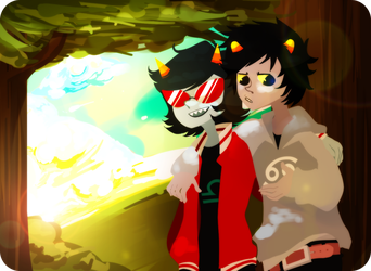 Karkat and Terezi by digitallyImpaired