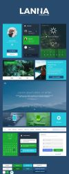 Lanna Free Photoshop UI Kit by Martz90