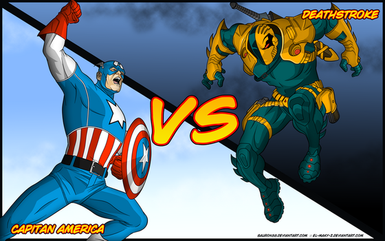 Capitan America Vs Deathstroke by Sauron88