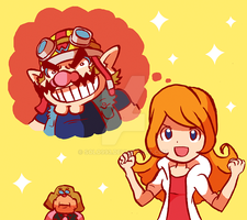 WarioWare  Gold, Mona Fan art by Solo993