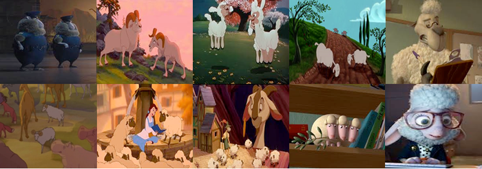 Disney Sheep, Ewes, and Rams in Movies by dramamasks22