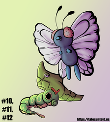 Caterpie Family - Gotta Draw 'Em All #10-12 by Punished-Kom