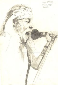 Unfinished Axl Rose Sketch by musehick