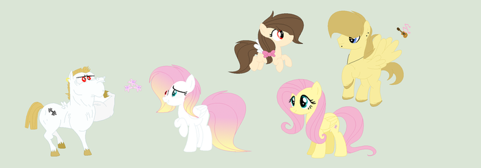 RosyVerse:Flutterbulk family by RoseLoverOfPastels