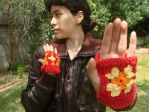 Granny Square Gloves by Meowkernaut