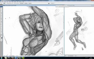 Wip - Commission - Maiara 1 by RudyCrus