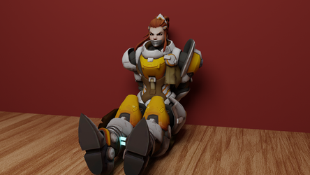 Brigitte in Distress by TheBlenderTaper