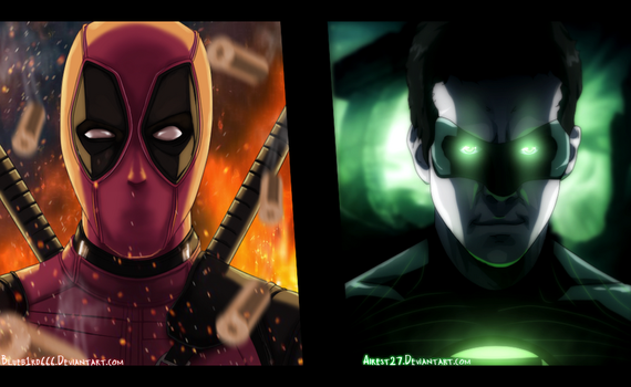 Deadpool and Green Lantern - Marvel |Color| by Airest27